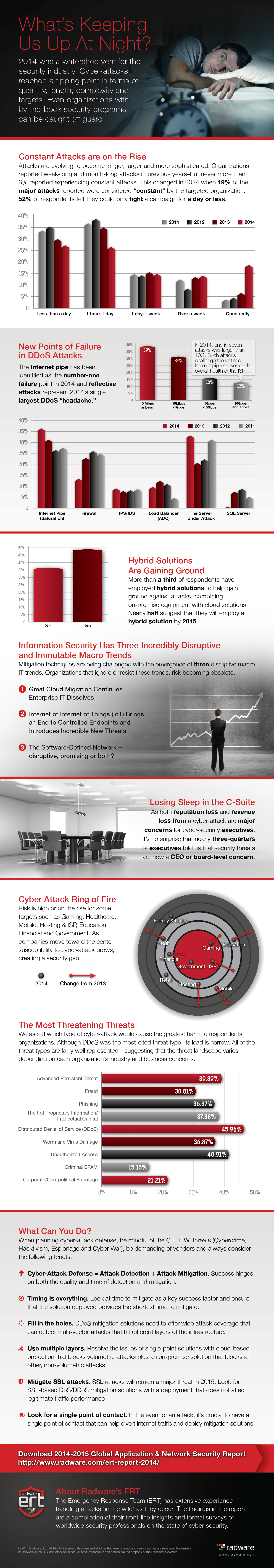 2014 - 2015 Global Application & Network Security Infographic